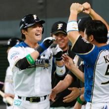日7-5中(20日) 石川慎がプロ初本塁打