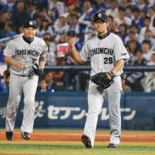 中日・山井が1位タイの13勝目、巨人は80勝到達 2日のセ・リーグ試合結果