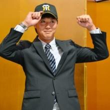 横山投手が新人王宣言 阪神と仮契約