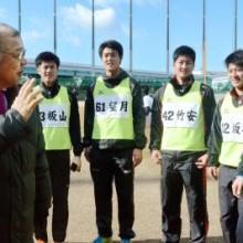 阪神の掛布二軍監督、新人初視察 高山の打撃に「バランスがいい」