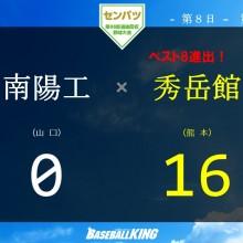 【センバツ】秀岳館、今大会最多の3発16得点で圧勝 投手陣も完封リレー