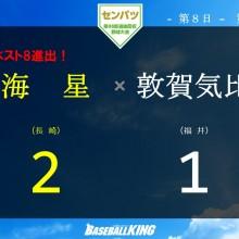 【センバツ】長崎・海星、敦賀気比の連覇阻む 継投策が冴え初の8強入り
