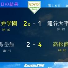 【センバツ】智弁学園は初、高松商は55年ぶり決勝進出! 準決勝の試合結果