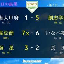【センバツ】創志学園、高松商、海星が2回戦進出!大会5日目の試合結果