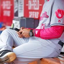 ユニフォームも、アンダーシャツもピンク
