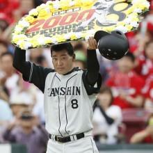 阪神・福留が日米通算2000安打を達成!日本で1502本、メジャーで498本