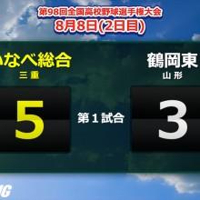 昨夏16強の鶴岡東は初戦敗退…守備でリズム作れず