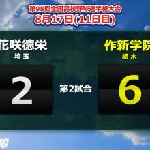 今井が2失点完投&2打点!エースの投打に渡る活躍で作新学院が4年ぶりの8強