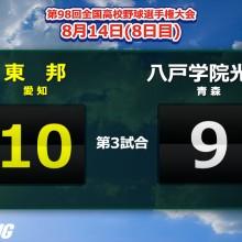 4点リードの9回に悪夢…八戸学院光星、勝利まであと一人でサヨナラ負け