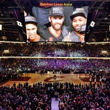 NBA開幕に沸くキャバリアーズの本拠地クイックン・ローンズ・アリーナ