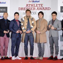 Athlete Dresser Awardを受賞した(左2番目から)小野、ベイカー、柳田、保田、羽根田、飯塚 [写真]=瀬藤尚美