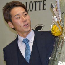 ロッテ・鈴木が1億円でサイン!「ひとつの目標だった」
