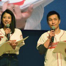 岡副麻希さん(左)、ますだおかだ・増田英彦さん(右)