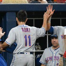 メッツ青木、1番で二塁打2本&2得点 チームの連敗ストップに貢献