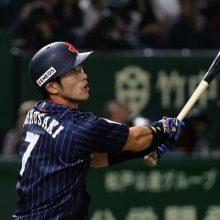 侍ジャパン、外崎の初代表弾で先制! 西武で今季飛躍、非凡な長打力発揮