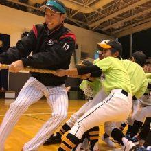 ロッテ・平沢、福島の子供たちと汗を流す「自分も元気をもらいました」