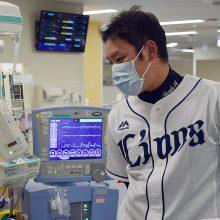 西武・増田がNICUを慰問「自分の子供がお世話になったNICUに関係する方の力になりたい」