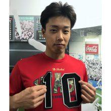 ロッテの加藤翔平が背番号『10』に 「ずっと着けたいと思っていた」