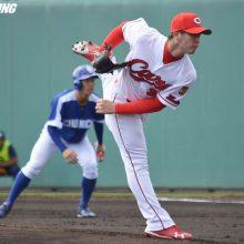 広島・高橋昂、中日相手に3回無失点 初回ピンチも「自分の投球できた」