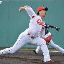 広島・岡田、3回を2安打無四球無失点「1年間ローテを守りたい」