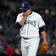 パドレス牧田、連打浴び一死も奪えず降板 いきなりランニング本塁打許す