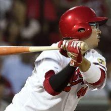 広島・松山、先制の適時二塁打!横山氏「ナイスバッティング」