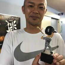 ロッテ・福浦のボブルヘッド人形1997ビジターVerの発売開始!