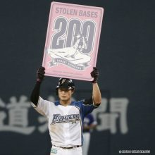 日本ハム・西川が200盗塁に到達!目指すは「500盗塁」