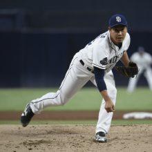 パドレス・牧田、メジャー最長3回1/3を無失点 打撃では会心の当たりも…
