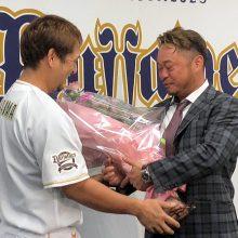 """""""松坂世代""""を誇りに…オリ・小谷野が引退会見「素晴らしい応援歌を作ってくれて嬉しかった」"""