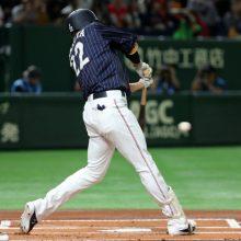 侍ジャパン、4番柳田が先制適時打! 2番源田が二塁打でお膳立て