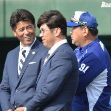 侍J稲葉監督が中日キャンプを視察 京田、笠原らの動きをチェック