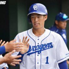 中日・京田、2二塁打&快足で勝利呼ぶ 与田監督「一歩目が素晴らしい」