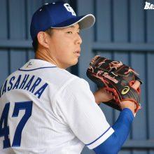 中日・笠原、6回を無安打投球 与田監督「投げるたびに安定感が増してきている」