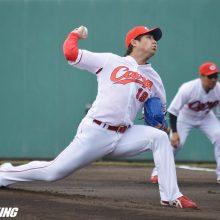 広島・野村、練習試合で好投 3回1安打無失点「コントロール良かった」