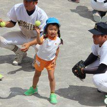 【少年野球2.0】「投げる」「打つ」楽しみを、たっぷりと。三島南高校野球部員が、保育園児に「野球教室」(前編)