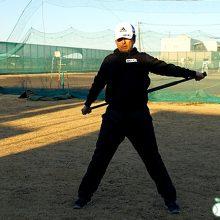 肩甲骨、体幹のストレッチ|サプルバットを使ったストレッチ紹介