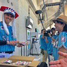 【ロッテ】レアードが幕張寿司の販売に挑戦「幕張スシ、オープン!」