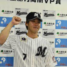 ロッテ・鈴木が初の月間MVP!「不思議な力が出た1ヶ月」