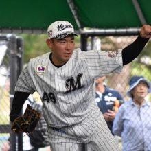 フレッシュ球宴優秀選手賞のロッテ・中村稔「チャンスを掴めるようにしていきたい」