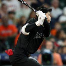 大谷翔平、シーズン100安打に到達 中前打で果敢に二塁狙うもタッチアウト