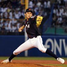 【壮行試合】高校日本代表の先発・佐々木が150キロ台を連発!1回12球で2奪三振