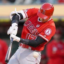 大谷、16打席ぶりの安打は適時二塁打 打ち損じた打球が左翼線にポトリ