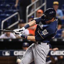 イエリチが右ひざ骨折で今シーズン絶望…今季44本塁打で史上10人目の「40-30」も達成