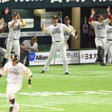 ソフトB、巨人に連勝し日本S本拠地14連勝! 高橋礼7回1安打0封、松田宣V弾