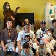 西武・武隈と巨人・炭谷が小児病棟を訪問し、子供たちと交流