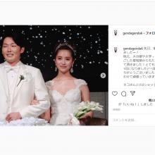 源田&衛藤が夫婦揃って挙式を報告! ねこげん2ショット「奥さんに見守ってもらいました(笑)」