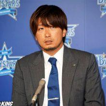 DeNA・三嶋はアップも「悔しさ」にじませる…悲願の優勝へ「チームを引っ張っていきたい」