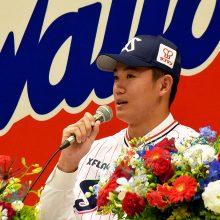 ヤクルトのドラ1・奥川恭伸がファンの前で決意「一軍で勝つことが目標」