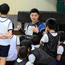 日本ハムの清宮が『夢の教室』に参加! 東京五輪を「目指しています」